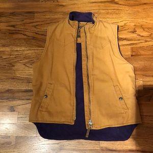 Women's fleece lined outerwear vest